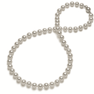 HinsonGayle AAA Handpicked White Round Freshwater Cultured Pearl Necklace