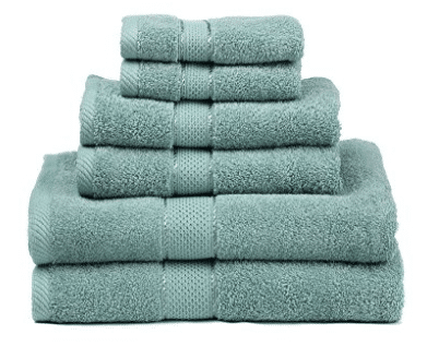 Premium Bamboo Cotton 6 Piece Towel Set, Bath Towel Sets