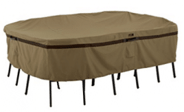 Classic Accessories Hickory Heavy Duty Rectangular/Oval Patio Table & Chair Set Cover