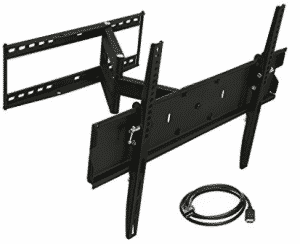 Mount-It! Full Motion TV Wall Mount Bracket For Flat Screen, Corner TV Wall Mounts