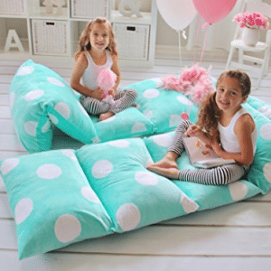 GIRL'S FLOOR LOUNGER SEATS COVER AND PILLOW COVER MADE
