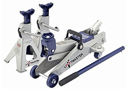 Liftmaster 2 Ton Hydraulic Trolley Floor Jack and Jack Stands Combo Set, Gifts for Grandpa