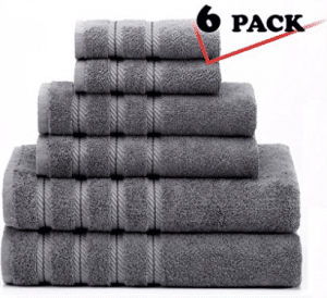Premium, Luxury Hotel & Spa, 6 Piece Towel Set - Bath Towel Sets
