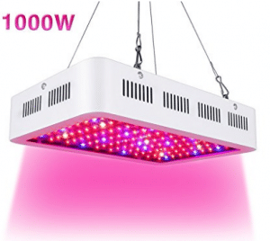1000w LED Grow Light,Super Bright Full Spectrum Double Chips Growing Bulbs with Protective Sunglasses for Greenhouse