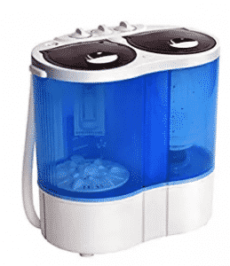 Giantex Portable Mini Washing Machine Gravity Drain Compact Twin Tub 7, Mini Washing Machines