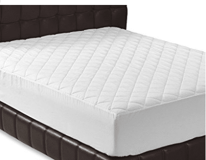 Quilted Fitted Mattress Pad (Queen) - Mattress Cover Stretches up to 16 Inches Deep