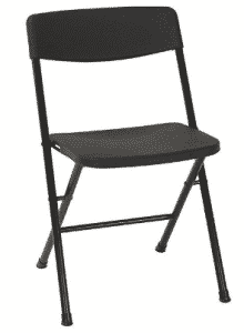 Cosco Resin 4-Pack Folding Chair with Molded Seat and Back - folding chairs