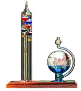 AcuRite 00795A2 Galileo Thermometer with Glass Globe Barometer, Galileo Thermometers