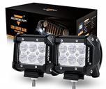 "Auxbeam LED Light Bar 4"" 18W LED Pods 1800LM Flood Beam Off Road Lights Waterproof LED Lights for Trucks Pickup Jeep SUV ATV UTV"