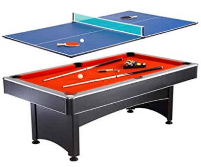 Hathaway Maverick 7-foot Pool and Table Tennis Multi Game with Red Felt and Blue Table Tennis Surface, Outdoor Pool Tables