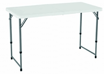 Lifetime 4428 Height Adjustable Folding Utility Table, 48 by 24 Inches