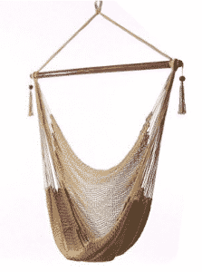 Sunnydaze Hanging Caribbean Extra Large Hammock Chair, Soft-Spun Polyester Rope