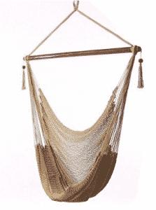 Sunnydaze Hanging Caribbean Extra Large Hammock Chair, Soft-Spun Polyester Rope