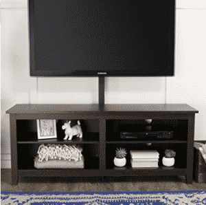 "WE Furniture 58"" Wood TV Stand Console with Mount, TV Stand With Mounts"