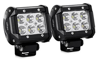 "Nilight 2PCS 18W 1260lm Spot Driving Fog Light Off Road Led Lights Bar Mounting Bracket for SUV Boat 4"" Jeep Lamp"