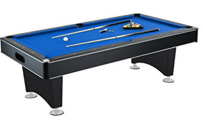 Hathaway Hustler 7'-8' Pool Table with Blue Felt, Internal Ball Return System, Outdoor Pool Tables