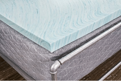 "DreamFoam Bedding DF20GT2050 2"" Gel Swirl Memory Foam Topper"