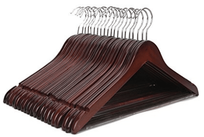 J.S. Hanger Multifunctional High Grade Solid Wooden Suit Hangers