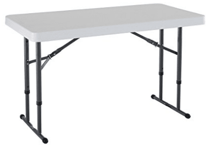 Lifetime 80160 Commercial Height Adjustable Folding Utility Table