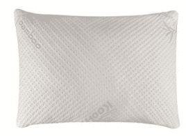 Snuggle-Pedic Ultra-Luxury Bamboo Shredded Memory Foam Pillow Combination With Adjustable Fit and Zipper