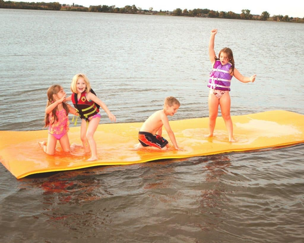 Jumbo Floating Pad, Giant Aqua Mat 18'x6' Feet Pool & Water Toy