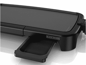 BLACK+DECKER Family-Sized Electric Griddle with Warming Tray & Drip Tray