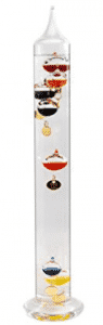 H-B DURAC Galileo Thermometer; 64 to 88F, 7 Spheres, 430mm