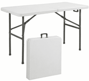 Best Choice Products Folding Table Portable Plastic Indoor Outdoor Picnic Party Dining Camp Tables