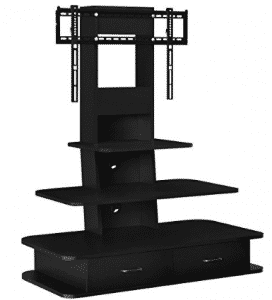 "Ameriwood Home Galaxy TV Stand with Mount and Drawers for TVs up to 70"" Wide, TV Stand With Mounts"