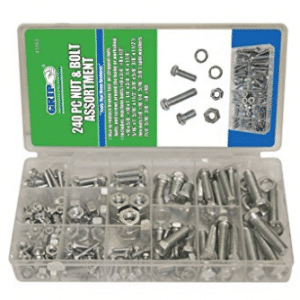 Grip Nut & Bolt Assortment-Sae - Stainless Steel Screws