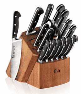 Cangshan V2 Series 1022551 German Steel Forged 17, Calphalon Knife Sets