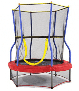 Skywalker Trampolines Round Bouncer Trampoline with Enclosure, Mini Trampolines