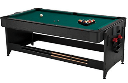 Fat Cat Pockey 7ft Black 3-in-1 Air Hockey, Billiards, and Table Tennis Table, Outdoor Pool Tables