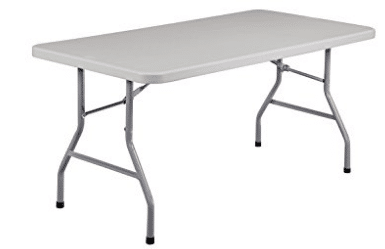 National Public Seating BT3060 Steel Frame Rectangular Blow Molded Plastic Top Folding Table