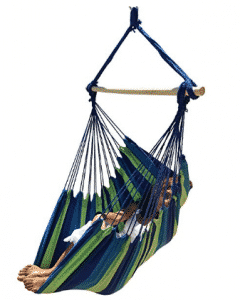 Large Brazilian Hammock Chair by Hammock Sky - Quality Cotton Weave for Superior Comfort & Durability