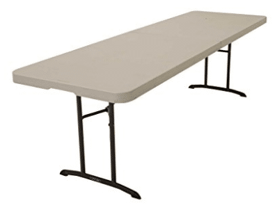 Lifetime 80175 Fold In Half Banquet Table