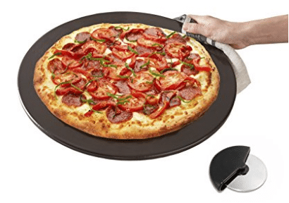 Heritage, Black Ceramic Pizza Stone 15""