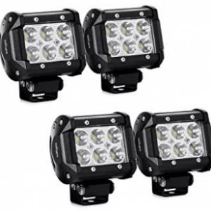 LED Light Bar Nilight 4PCS 18W 1260lm Spot led pods Driving Fog Light Off Road Lights Bar Jeep Lamp