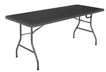 Cosco Deluxe 6 foot x 30 inch Fold-in-Half Blow Molded Folding Table