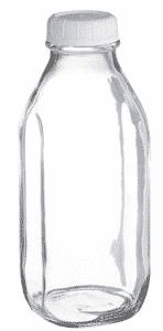Libbey Glass Milk Bottle with Lid, Milk Bottles