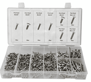 Swordfish 31930 Stainless Steel Screw Assortment, Stainless Steel Screws 420 Piece