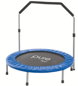 "Pure Fun 40"" Mini Rebounder Trampoline with Adjustable Handrail, Mini Trampolines"