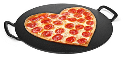 15-inch Pizza Stone, Solid Cast Iron