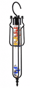 G.W. Schleidt YG641 Galileo Thermometer Hanging 17-Inch Multicolored