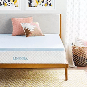 LINENSPA 2 Inch Gel Infused Memory Foam Mattress Topper