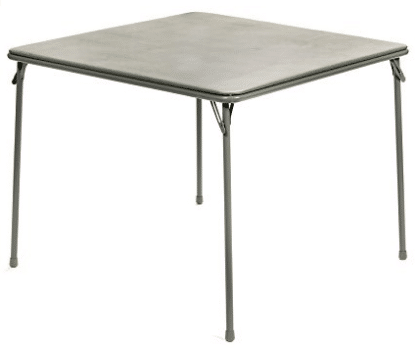 "XL Series 38"" Square Folding Card and Game Table, Extra Large"