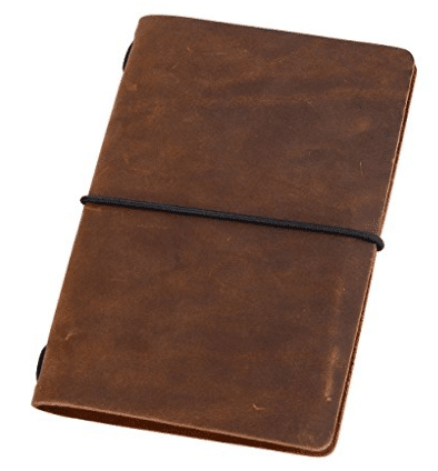 Pocket Travelers Notebook - Leather Journal Cover for Field Notes