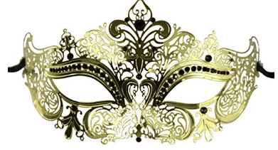 Luxury Mask Women's Laser Cut Metal Venetian Masquerade Crown Mask, Masquerade Masks for Women