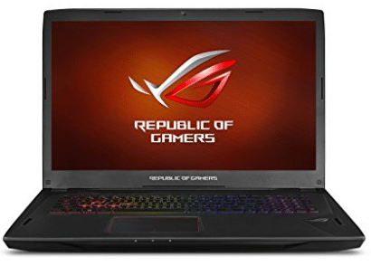 "ASUS ROG STRIX Gaming Laptop, 17"" Full HD 120Hz Panel, Intel Core i7 2.8GHz GTX 1080 8GB"