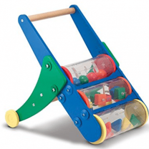 Melissa & Doug Rattle Rumble Wooden Push Toy and Activity Walker